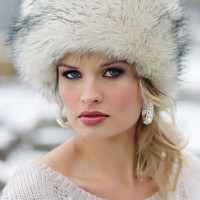 Arctic Fox Faux Fur Russian Hat | Fabulous-Furs