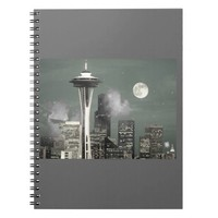 Seattle Space Needle Grey Mist Note Book