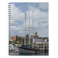 Sailing Boat at Grenada Spiral Notebook