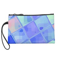 Re-Created Mirrored SQ Wristlet Clutch