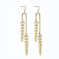 Supermarket - Feather Leaf Earrings- As seen in InStyle Magazine from Emily Elizabeth Jewelry
