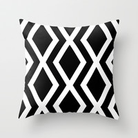 Delighted X Throw Pillow by Rebecca Allen