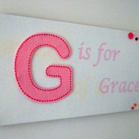 Girls Personalised Name Plaque | Luulla