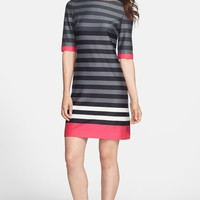 Eliza J Stripe Ponte Shift Dress | Nordstrom