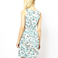 Vila Tea Dress In Light Floral Print