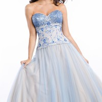 Sequined Soft Tulle Gown by Party Time