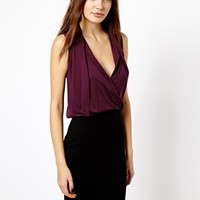 French Connection Zoe Drape Crossover Dress in Jersey