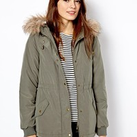 Oasis Faux Fur Trim Parka