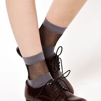 ASOS Sheer Stripe Socks