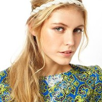 ASOS Plaited Pearl Headband