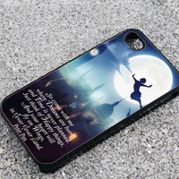 peter pan quote iPhone 4/4s,iPhone 5/5s,Samsung S2 i9100,Samsung Galaxy S3,Samsung Galaxy S4