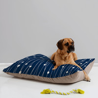 Heather Dutton Navy Entangled Pet Bed