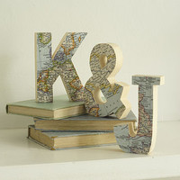 Bespoke Wooden Map Letters