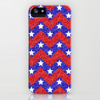 Chevron Star Spangled Banner iPhone & iPod Case by Alice Gosling