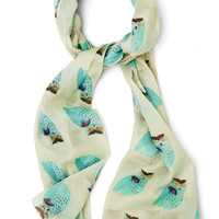 Hoot That Girl? Scarf | Mod Retro Vintage Scarves | ModCloth.com