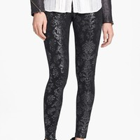 Hue Foil Brocade Leggings | Nordstrom