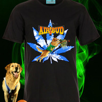 UNISEX Air Bud Weedtriever Marijuana Slam Dunk T-shirt // BLACK // 90s Disney Movies // fASHLIN