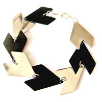 Triangle Bracelet Silver and Black
