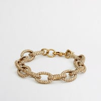 FACTORY GOLD AND CRYSTAL LINK BRACELET