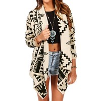Sale-ivory/black Aztec Sweater
