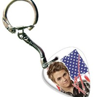Hunter Hayes Celluloid Guitar Pick Keyring ( Flag Design )