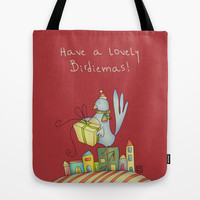 Christmas Tote Bag by Carina Povarchik