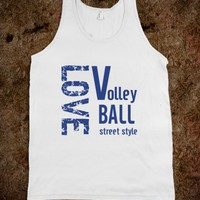 Skreened Love Volleyball Tank Top