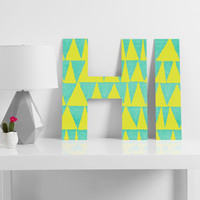 Nick Nelson Analogous Shapes With Gold Decorative Letters