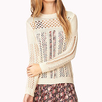 Refined Open-Knit Sweater