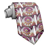 colors cool retro vintage African traditional styl Custom Ties