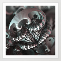 MotherOfPearl Art Print by fracts - fractal art