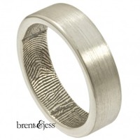 The Original Wrapped Fingerprint Wedding Band - brent&jess