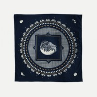 Scout D-1 Handkerchief / Navy Japanese Cambric / Made in USA