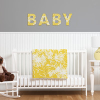 Vy La Bright Breezy Yellow Decorative Letters