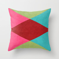 holiday triangles Throw Pillow by her art