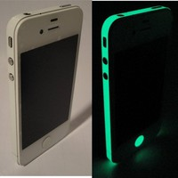 TCD Glow in the Dark Vinyl Side Bumper Sticker Skin Wrap for Apple iPhone 5 5S