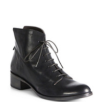 Urbano Leather Lace-Up Ankle Boots