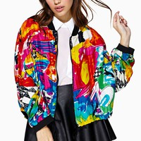 Electric Graffiti Bomber Jacket