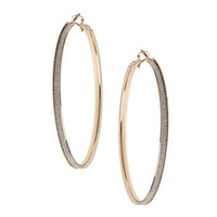SKINNY GLITTER HOOP EARRINGS