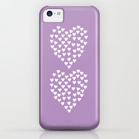 Hearts Heart x2 Radiant Orchid iPhone & iPod Case by Project M