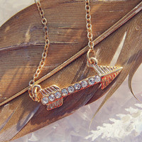 Feather Arrow Necklace