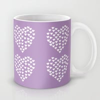 Hearts Heart x2 Radiant Orchid Mug by Project M