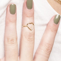 HEART SILHOUETTE RING - One
