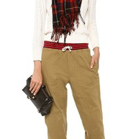 Patchwork Drawstring Pants
