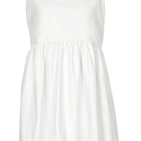 **SLEEVELESS PU LEATHER ANGEL DRESS BY THE WHITEPEPPER