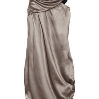 Julie Haus Drury Lane asymmetric silk dress|THE OUTNET