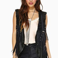 Rebellion Fringe Leather Vest