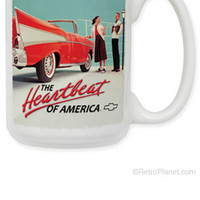 57 Chevy Heartbeat of America Coffee Mug | Coffee Mugs | RetroPlanet.com
