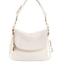 Tom Ford Large Jennifer Flap-Top Bag, Ivory