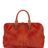 Tom Ford Petra Calf Hair Satche; Bag, Chalk